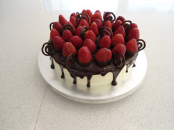 Strawberry Choc Drip Cake