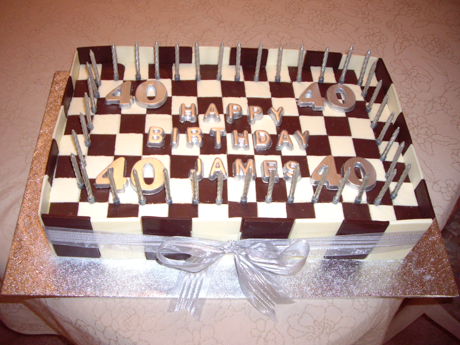 Large Checkerboard Birthday Cake