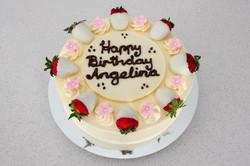 White Choc Strawberry Cake