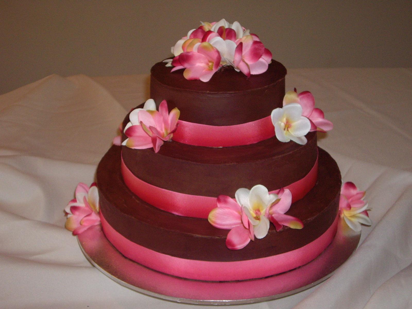 3-tier Choc Mud Wedding Cake