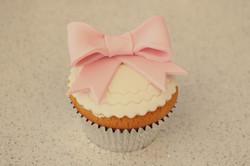 Baby Girl Ribbon Cupcake