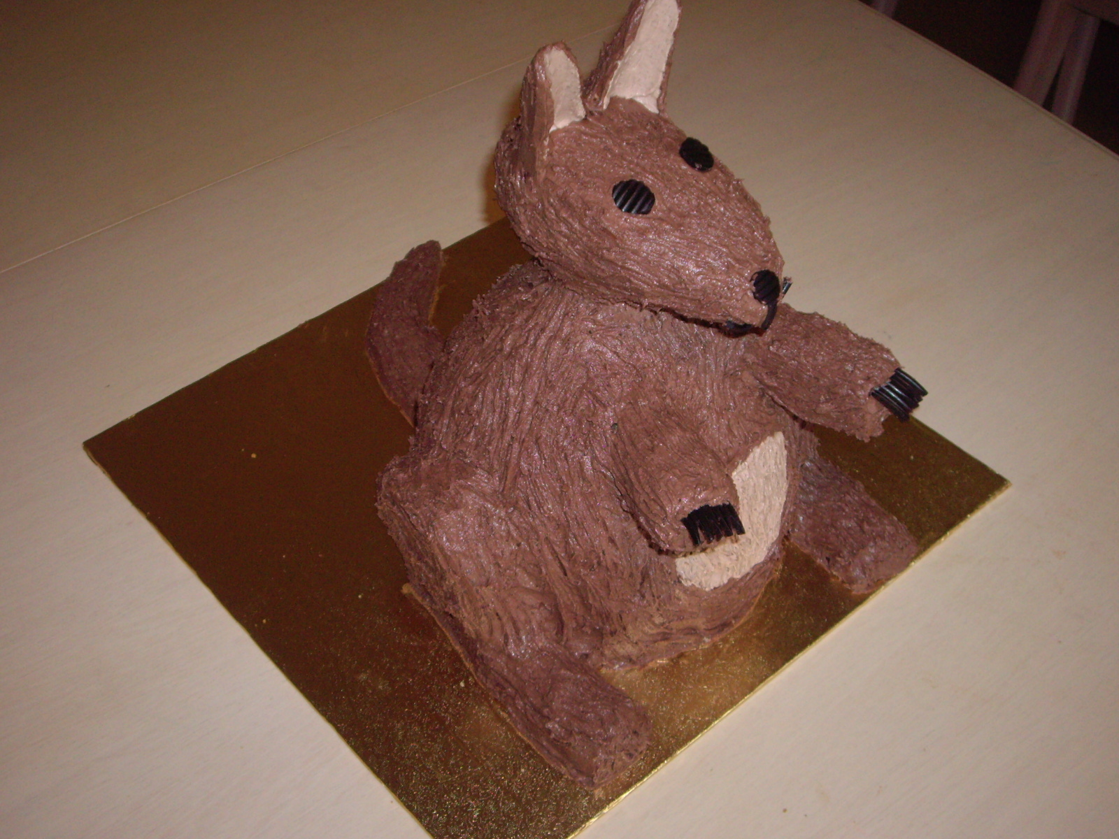 Sculpted Kangaroo Cake