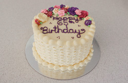 Buttercream Flowers Birthday Cake