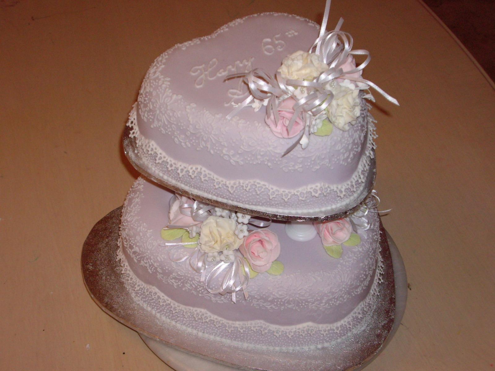2-tier Fruit Wedding Cake