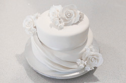 2-tier White Choc Mud Wedding Cake