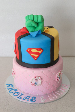 Superheroes/Princess Cake
