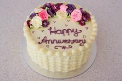 Buttercream Flowers Anniversary Cake