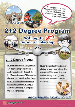 2+2 Degree Programme for Malaysia Students