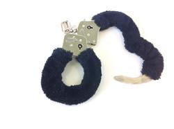 Open Blue Furry Handcuffs