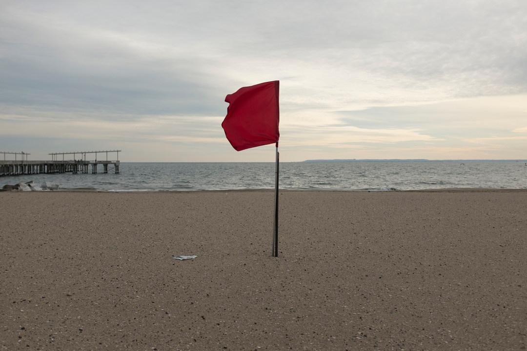 Red flag, Brighton Beach, Coney Island