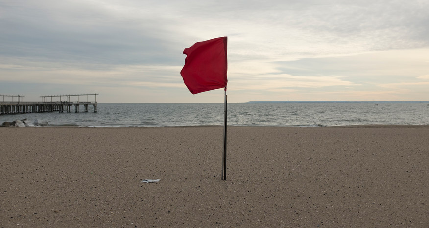 Red flag, Brighton Beach, Coney Island