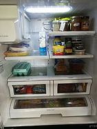 Fridge cleaning and organizing