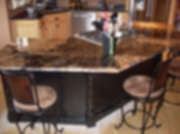 Interior Kitchen completion marble top in Bend, O