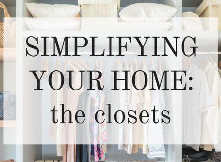 Simplifying your Closets