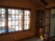Refinishing of living room wall and door at Bend, OR