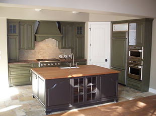 Interior painting in Bend, OR,Interior paint job green