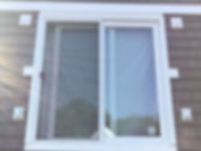 White Vinyl Window Exterior View. Window Installation Services in Beverly, MA