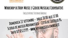 Corso di formazione Body Music e Giochi Musicali Cooperativi