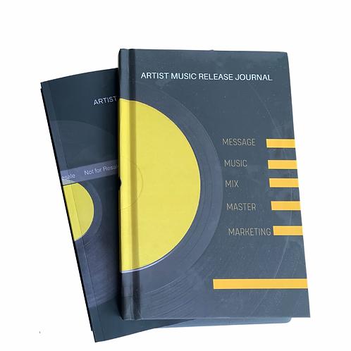 Artist Music Release Journal & Planner Paperback
