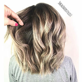 The perfect Ash Blonde long bob & beachy