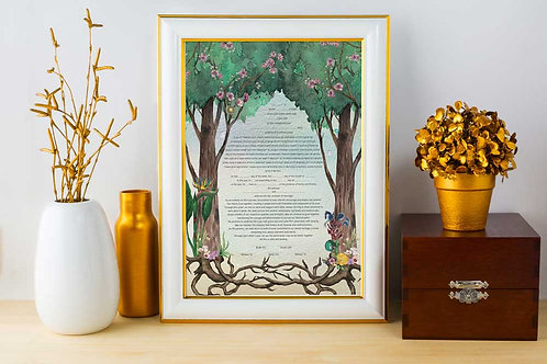 Ketubah - Forest Tree