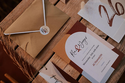 Wedding Invitation - Boho Chic