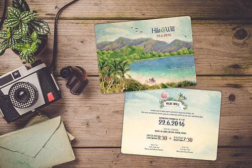 Wedding Invitation - Kineret Lake