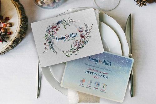 Wedding Invitation - Winter Love