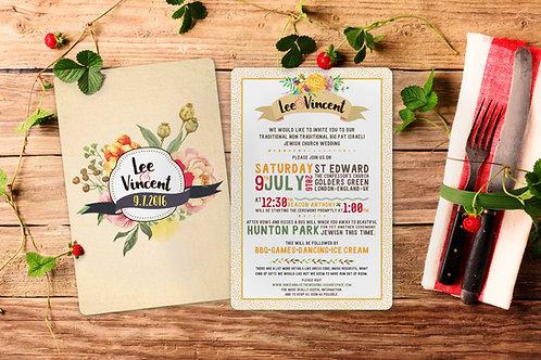 Wedding Invitation - Typographic
