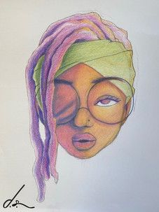 """Awakening"" color pencil by Diamond Smith"