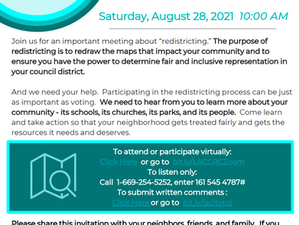 CD 10 Redistricting: need your input!