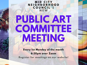 Introduction to our Public Arts Ad Hoc Committee!