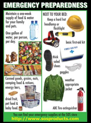 Emergency preparedness equipment