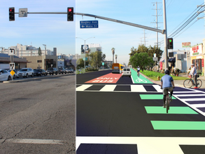 Thoughts on bus/bike lanes from beach to DTLA along Venice Blvd?