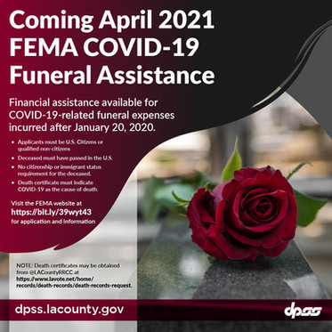 FEMA Assistance with Covid-19 funeral costs