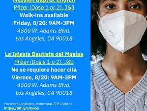 Upcoming vaccine clinic from the city