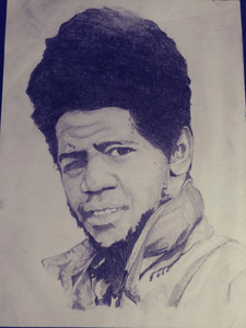 """Al Green"" graphite by Korey Finnell"