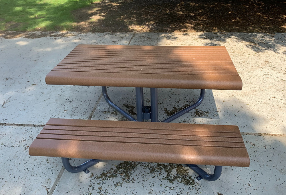 New picnic tables at Genesse Park