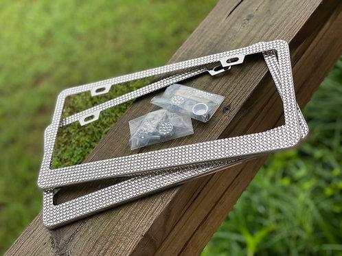 Licensplate Bling - Clear Stones