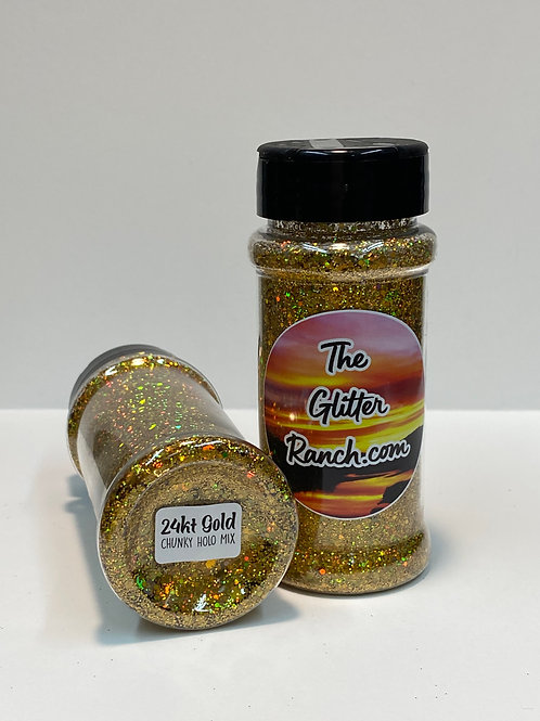 24KT Chunky Holographic