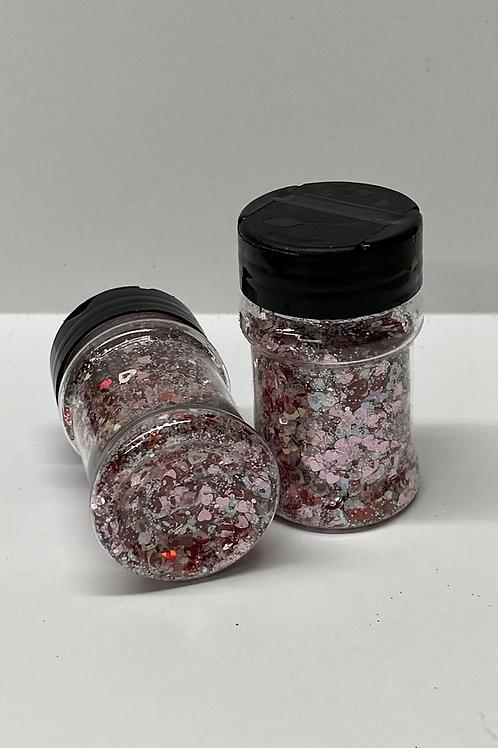 Valentine 1 Shaped Glitter