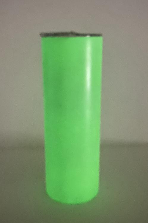 20oz Green to Green Sublimation Glow Tumbler