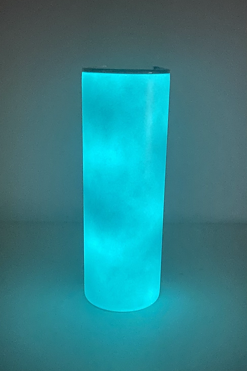20oz Blue to Blue Sublimation Glow Tumbler