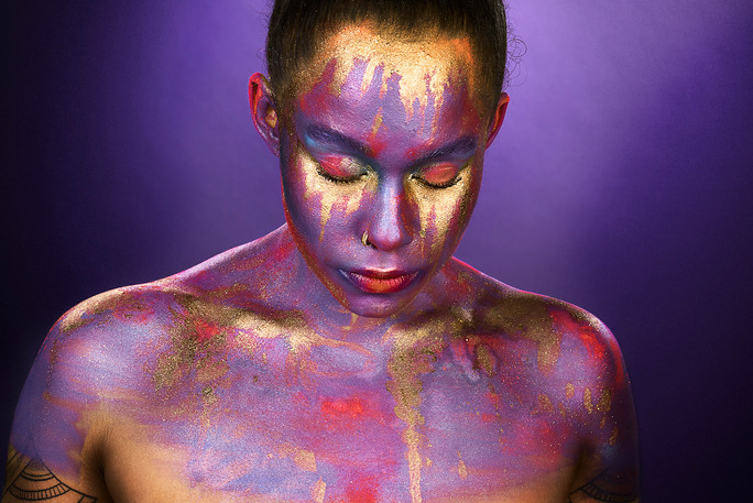 Experimental Make-up Photography Blue Mountains, Australia