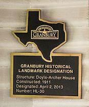 Historical Landmark Plaque