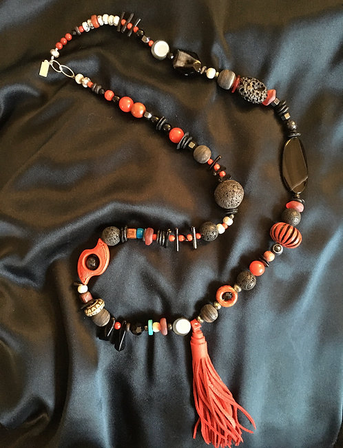 Valerie Smith  #7   Long Beaded Necklace