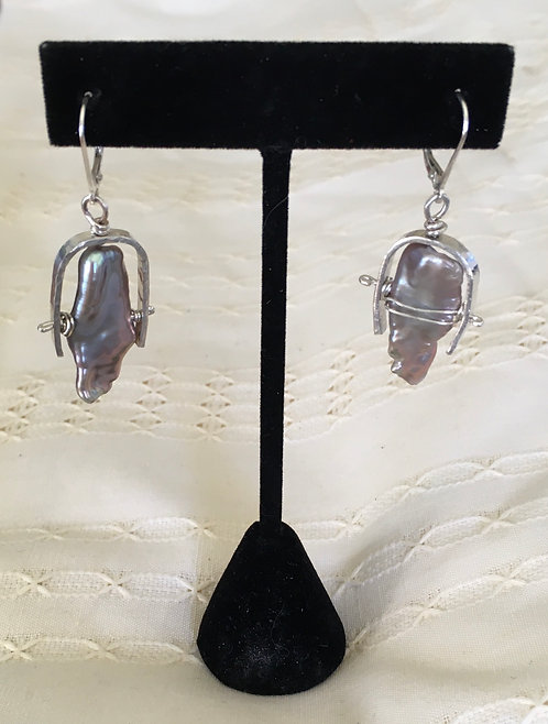 Valerie Smith #1  Baroque Pearl Earrings