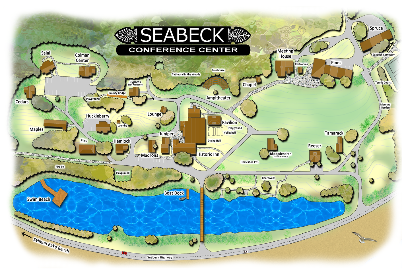 Seabeck Conference Center Map