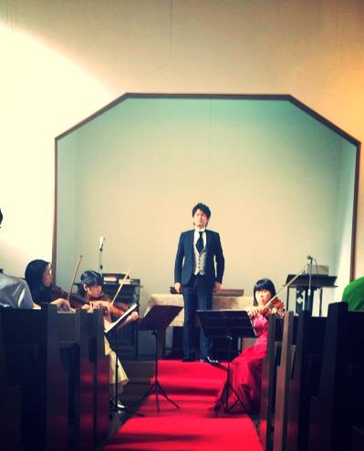 2014年《第1回チャペルコンサートにて》