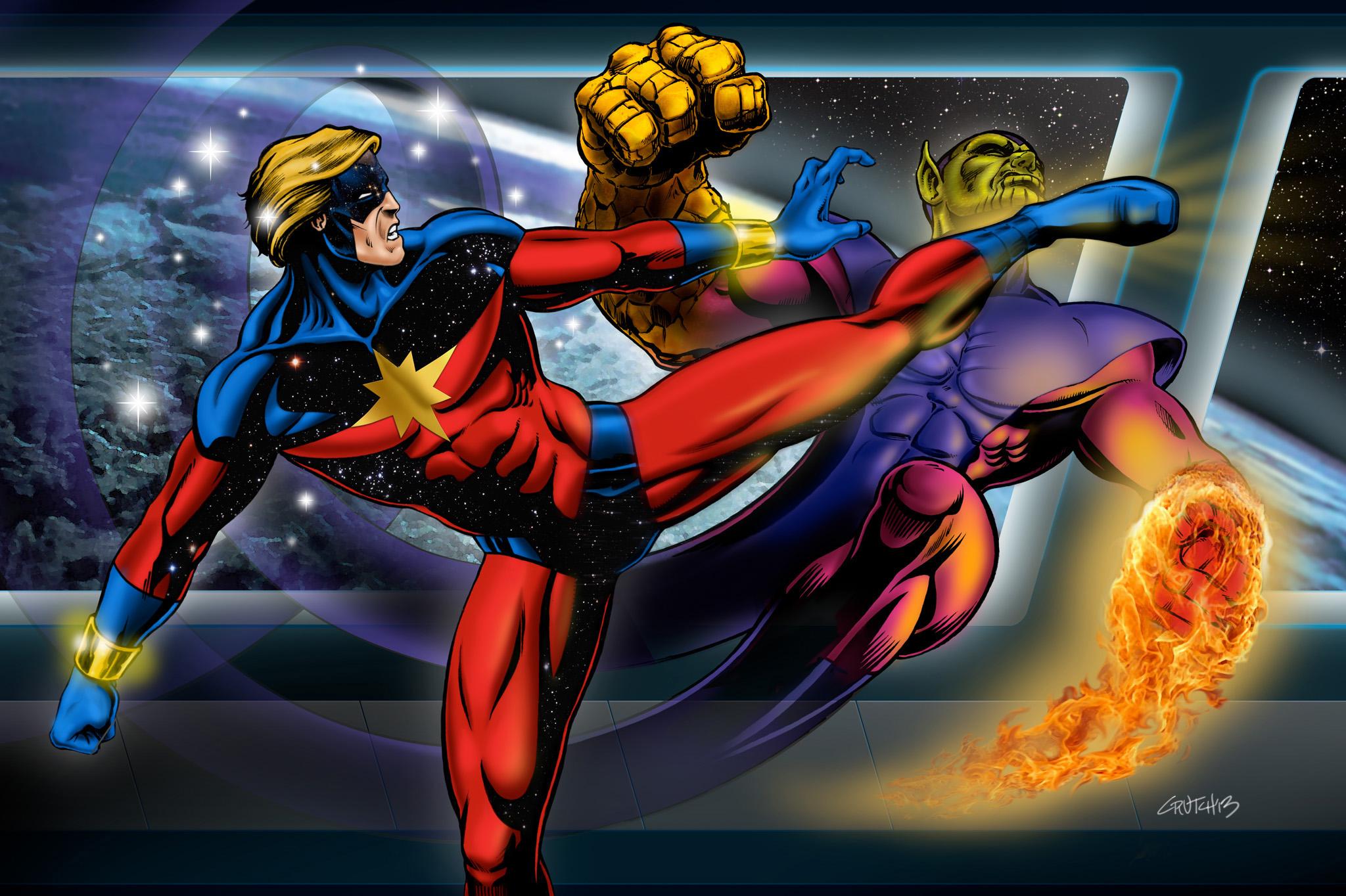 Captain Marvel vs. Super Skrull